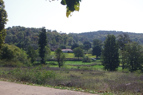 An image for View of Shambhupipar, a remote village in the Maikal Hills of Kabirdam District, Chhattisgarh State, India.